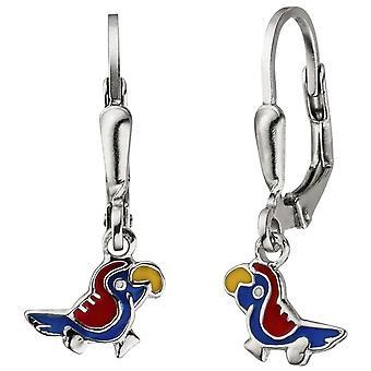 Kids earrings parrot 925 sterling silver earrings kids earrings