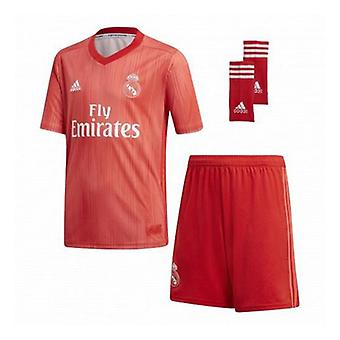 Children's Football Equipment Set Adidas Real Madrid Red 18/19 (3ª) (3 Pcs)/14-16 Jaar