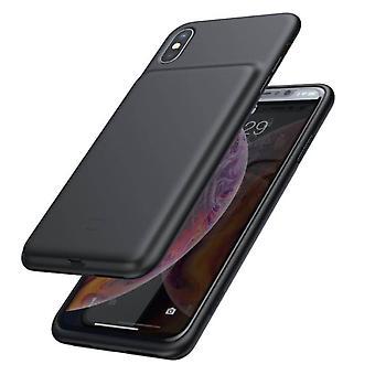Baseus Smart Battery Case Hoesje iPhone XS Max - 4200 mAh - Zwart