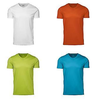 ID miesten kyllä toimiva aktiivinen lyhythihainen asennettu kaula t-paita