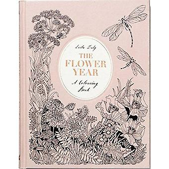 The Flower Year - A Colouring Book by Leila Duly - 9781780679532 Book