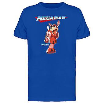 Capcom Mega Man Rush Dog Graphic Miesten T-paita