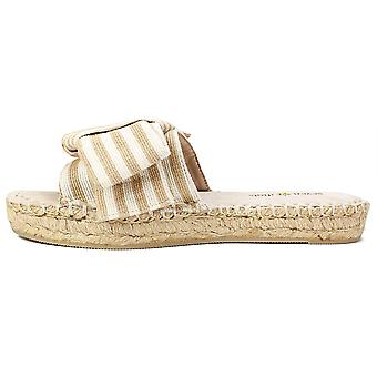 Seven Dials Womens Wagner Fabric Open Toe Casual Slide Sandals