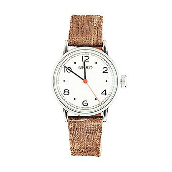 Nero 103 Veneto Unisex Chocolate Strap Quartz Watch - Blanc