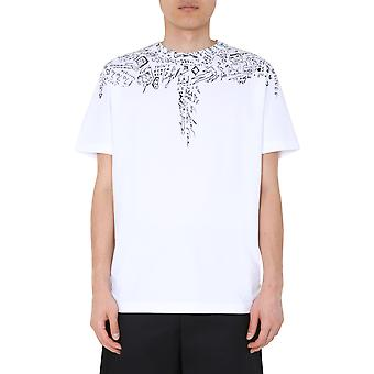 Marcelo Burlon Cmaa018e20jer0050110 Heren's White Cotton T-shirt