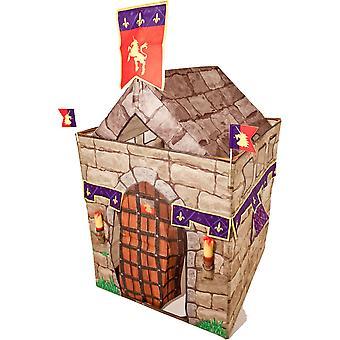 Traditionella Trädgård Spel Knight Castle Fortress Spela Tält Set