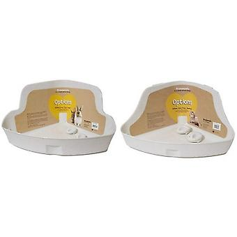 Rosewood Options Corner Litter Tray