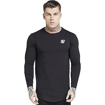 Sik Silk Long Sleeve Core Gym T-Shirt Preto 50