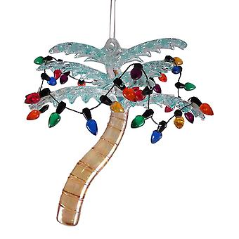 Tropische Palm Tree glas 4,25 inch Christmas Ornament vakantie