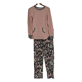 Cuddl Duds Women's Pajama Set w/ Top & Bottoms Pink A371296