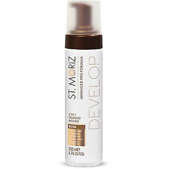 St. Moriz Advanced Pro Formel 5in1 Tanning Mousse #medium 200 Ml Unisex