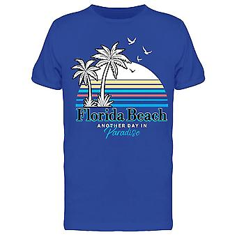Florida Beach Palms Tee Miehet&s -Kuva Shutterstock