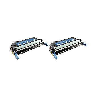 החלפת 2x RudyTwos עבור HP 643A טונר שחור תואם עם צבע LaserJet 4700, 4700dn, 4700dtn, 4700dn, 4700dn +