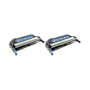 RudyTwos 2 x korvaaminen HP 643A värikasetti yksikön musta väri LaserJet 4700, 4700dn, 4700dtn, 4700n, 4700ph + yhteensopiva