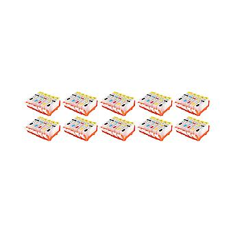RudyTwos 10x Replacement for Canon PGI-520 CL-521 Set Ink Unit Full Set 4 Pack +1 Black Compatible with Pixma IP3600, IP3680, IP4600, IP4680, IP4700, MP540, MP550, MP560, MP620, MP630, MP640, MP980, M