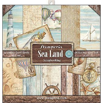 ستامبريا البحر الأرض 12x12 بوصة حزمة الورق