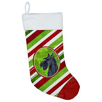 Scottish Terrier Winter Snowflakes Christmas Stocking SS4598