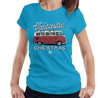 Volkswagen Have A Vantastic Christmas Camper Women's T-Shirt