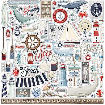 Autocollant Carta Bella By The Sea 12x12 Inch Element