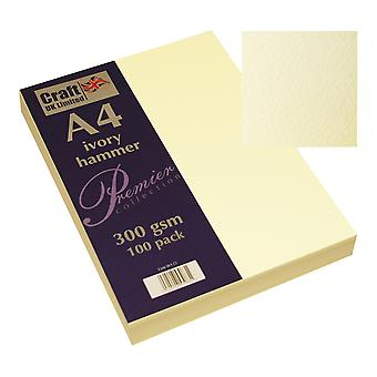 Craft UK Premium Collection A4 Ivory Hammered Paper Pack