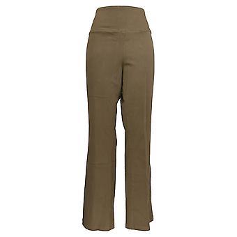 Frauen mit Kontrolle Frauen's Plus Jeans Stretch Denim Low Bell Beige A342060
