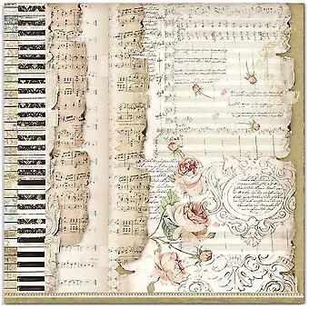 Stamperia Prinzessin Fans & Musik 12 x 12 Zoll Papierblätter (10pcs) (SBB714)