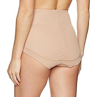 Marca - Arabella Women's Smoothing Mesh Shapewear Brief, Nude, X-Large