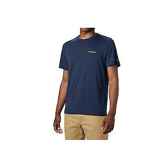 קולומביה Maxtrail SS לוגו טי 1883433464 אוניברסלי כל השנה גברים חולצת טריקו