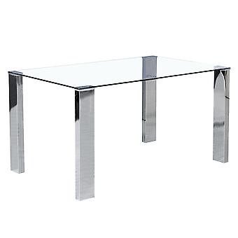 Daisy Dining Table - Stainless Steel