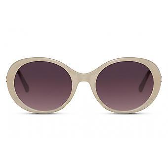النظارات الشمسية السيدات البيضاوي القط كامل الحافة. 3 أبيض / أسود