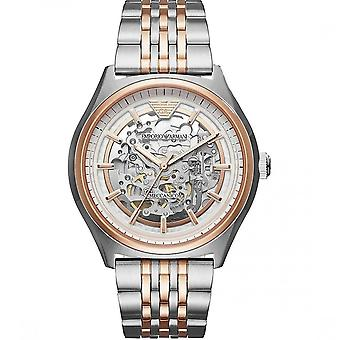 Armani Ar60002 Meccanico Rose Gold & Silver Stainless Steel Men's Watch