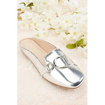 Front Detail Flat Mules