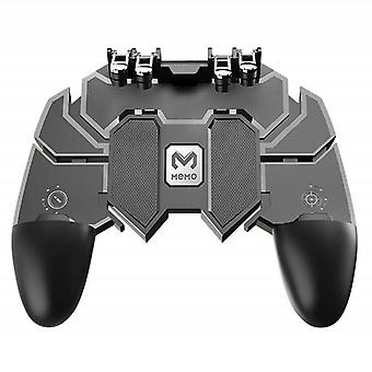 Mobile Controller Turnover Button Gamepad For Pubg Ios Android Six 6 Finger Operating Gamepad Peripherals