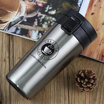 Thermos Coffee Bottle - Double Wall Stainless Steel Tumbler Vacuum Flask Bottle