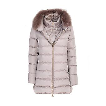 Herno Pi0670d121702600 Dames's Beige Nylon Down Jacket