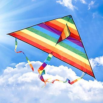Colorful Rainbow Kite With Long Tail