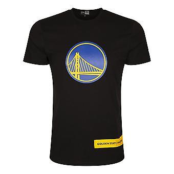 New Era Nba Golden State Warriors Wordmark Block 12195401 koripallo koko vuoden miesten t-paita