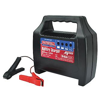 Faithfull Power Plus Battery Charger 20-65ah 4 Amp FPPAUBC4AMP