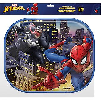 zonneschermen Spider-Man junior 44 cm mesh 2 stuks