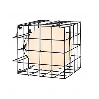 Cage Table Lamp Black 1 Bulb