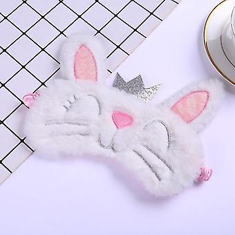 Plush Cute Grey Cat Long Ear Rabbit Eye Sleeping Mask - Eye Shade Cover