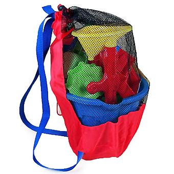 Summer Sea Storage Mesh Bags For - Kids Beach Sand Toys, Sports, Bathroom