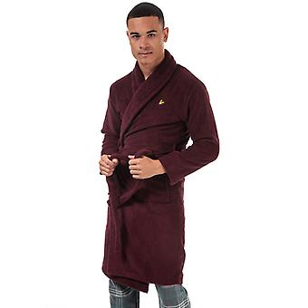 Men's Lyle And Scott Lucas Dressing Gown in Red