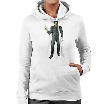 Frankenstein Monster Pose Frauen's Kapuzen Sweatshirt