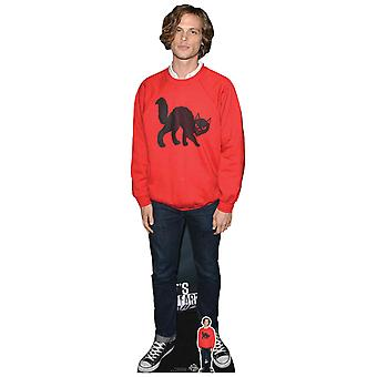 Matthew Gray Gubler Red Jumper Lifesize Kartong Cutout / Standee