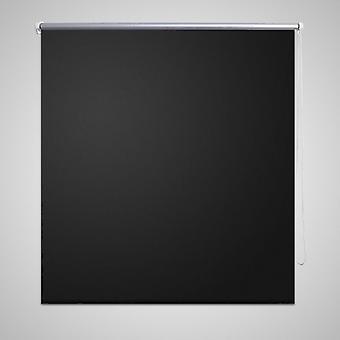 Blackout roller blind 100 x 230 cm black
