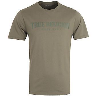 True Religion Arch Logo Olive T-Shirt