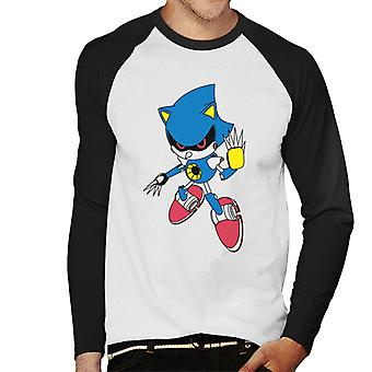 Sonic The Hedgehog Metal Sonic Men's Baseball Pitkähihainen T-paita