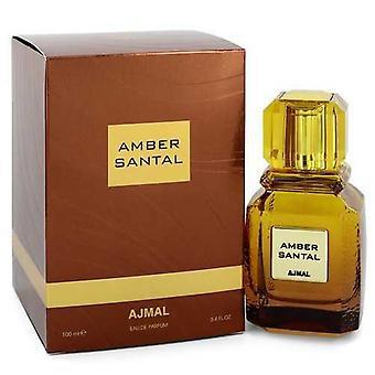 أجمل العنبر سانتال بواسطة Ajmal Eau De Parfum Spray (للجنسين) 3.4 Oz (نساء) V728-547521