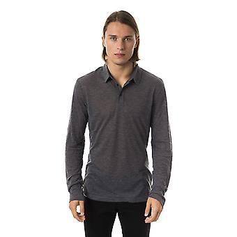 BYBLOS Fumodilondra Long Sleeve Grey Polo